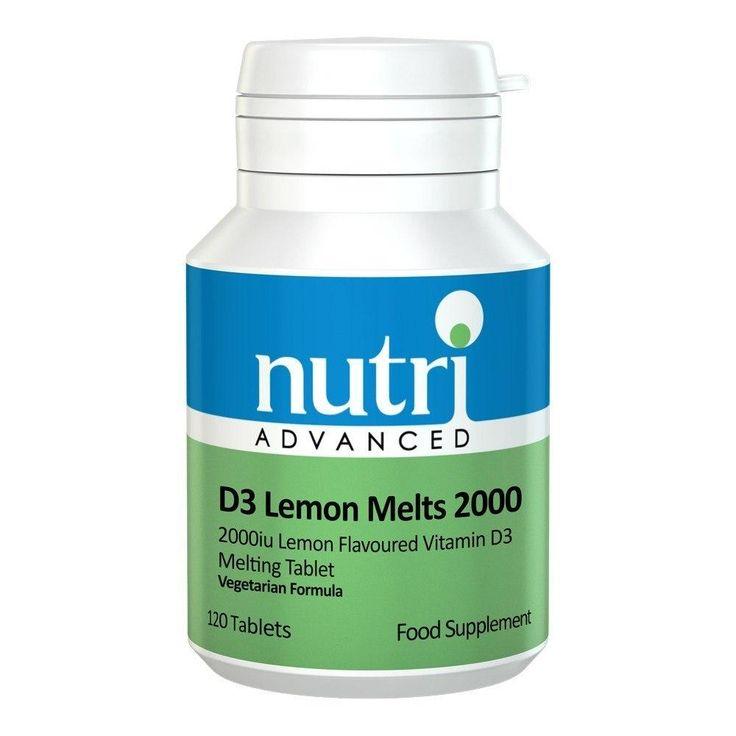 Nutri Advanced D3 Lemon Melts 2000 IU 120 Tablets - Lifestyle Labs