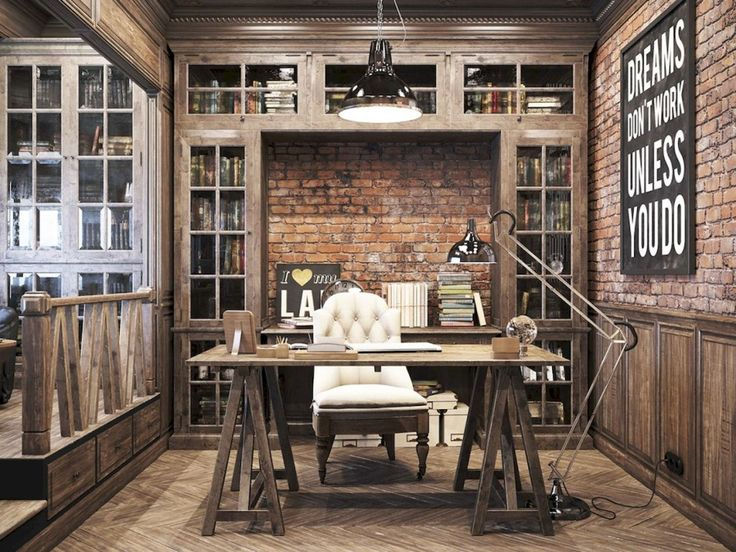 Best 25+ Rustic Home Offices Ideas On Pinterest | Home Office Desks, Rustic  Office Decor And Home Office Lighting