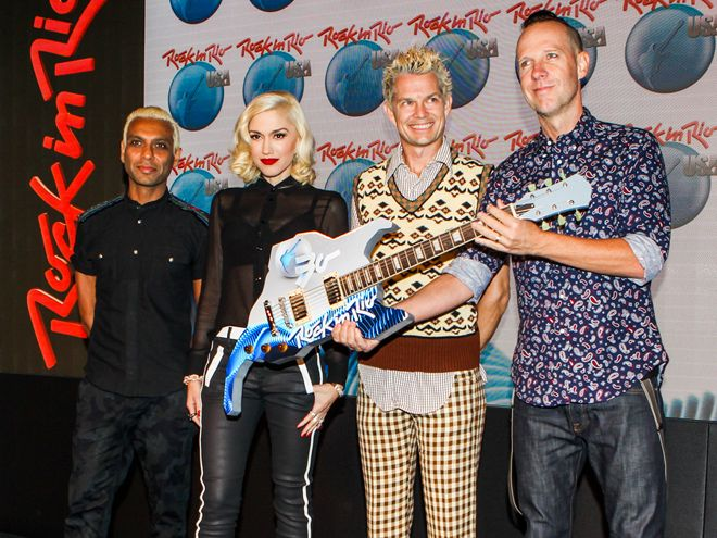 Star Tracks: Monday, September 29, 2014 | ROCK STEADY | The Voice judge Gwen Stefani joins the other members of No Doubt in New York on Friday as they announce they'll headline the Rock in Rio festival happening in Las Vegas next year.