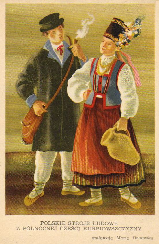 Costumes from Northern Kurpie by Kolberg