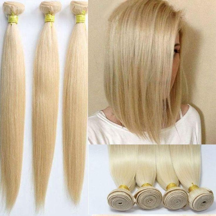 #613 Blonde 100% Brazilian Human Hair Extensions Straight Weave 1/3 Bundles #Cool2ay #StraightBundle