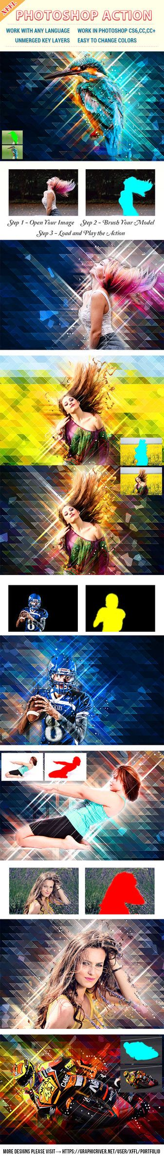 DOWNLOAD: goo.gl/HYaFYvLow Poly Art Photoshop ActionFiles FeaturesPhotoshop ActionWork in Photoshop CS6,CC,CC+Work with any LanguageUnmerged key LayersEasy to Change ColorsUse Images be...