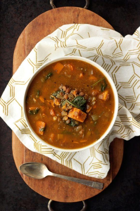 Soups, Vegan, Spinach Lentil, Slow Cooker Soup, Crockpot, Potato Slow ...