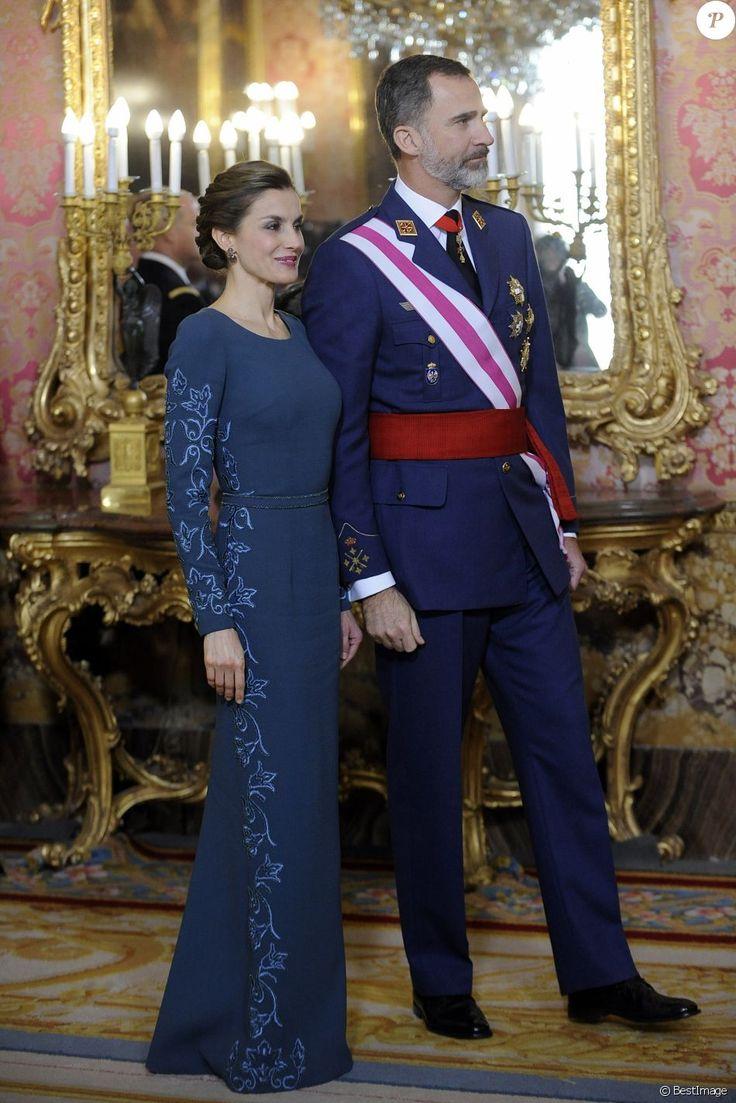 Le roi Felipe VI et la reine Letizia d'Espagne - Parade Pâque militaire à Madrid. Le 6 janvier 2017