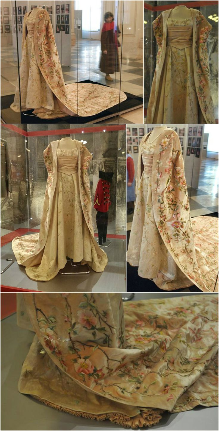 Gown worn by Crown Princess Marie of Romania to the coronation of Tsar Nicholas II in 1896. Photos (clockwise, from top left): AP/Vadim Ghirda, ro.stiri.yahoo.com, Marie_of_Romania on the Alexander Palace Time Machine Discussion Forum, Andreea Dogar - Yahoo News, Hotnews