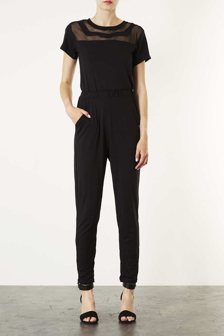 Double Mesh Panel Jumpsuit - New In This Week - New In - Topshop