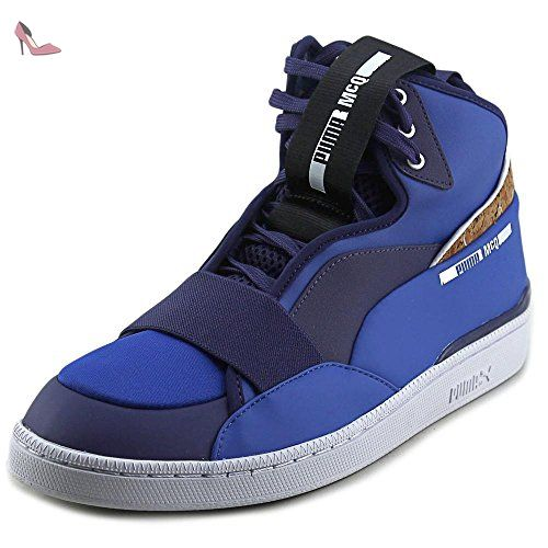 RBR Rider, Sneakers Basses Mixte Adulte, Bleu (Total Eclipse White-Chinese Red 01), 43 EUPuma
