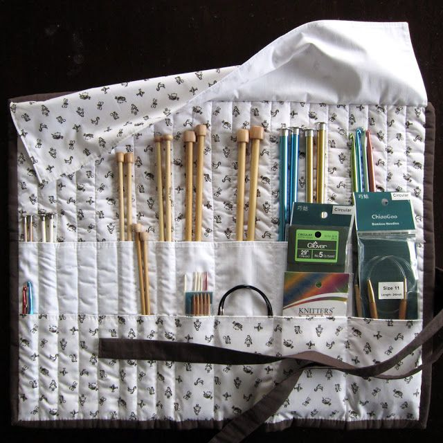 Floating On Cloud9: GeoCentric Week :: Knitting Needle Case