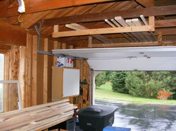 Overhead Lumber Storage Ideas - WoodWorking Projects & Plans on wooden carport pergola, wooden shed with carport, wooden garage, wooden carport with workshop, wooden carports flat roof, wooden storage sheds,