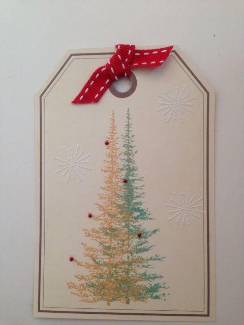 Christmas card, fir trees