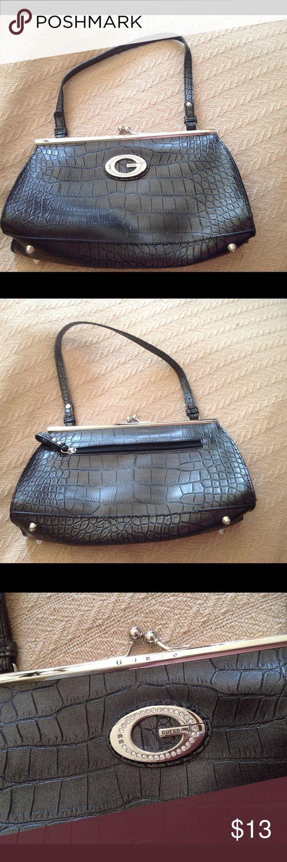 "Guess Handbag Guess black handbag with super cute rhinestone ""G"". Perfect condition used once. Guess Bags Hobos"