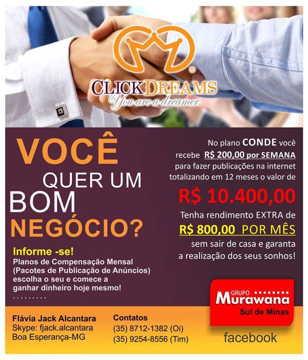 Entre em contato e saiba como ganhar R$ 800,00 extra por mês! (35) 9880-1202
