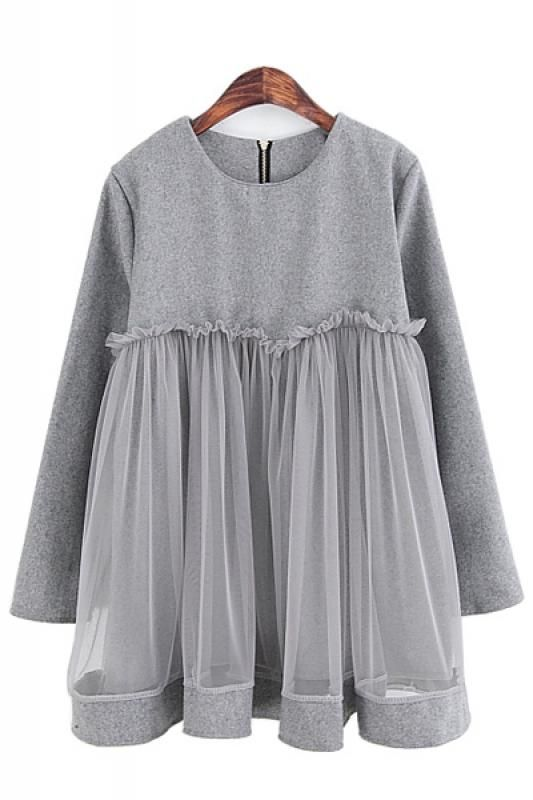 Loose Blouse in Grey~Love the Fabric Layers ~ Love the Draping~  #Grey #Baby_Doll #Style