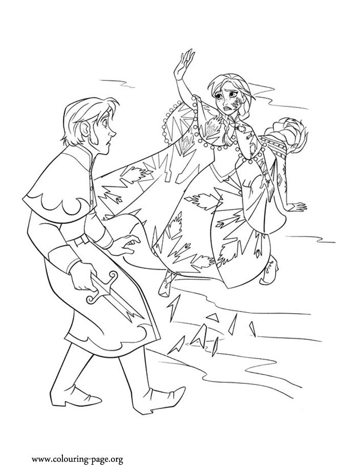 Anna Defends Her Sister Elsa To The Hanss Attack How About Print Out And Have Free Printable Coloring PagesFrozen PrintableKids