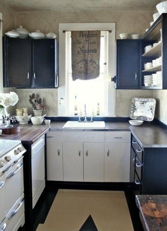 Home Decor Ideas For Small Kitchen Part - 39: Brilliant Small Kitchen Design Idea ~ Another Good Use Of Space.