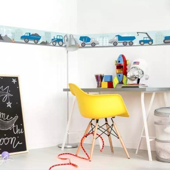 Wall Decor Sommerzeit Baustellenzeit Unsere Baustellen Nerven Nicht Bordure Selbstklebend Made With In Germ Kindertisch Jungszimmer Kinder Zimmer