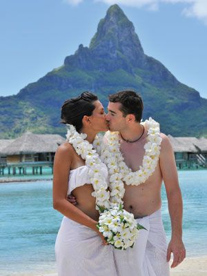 The Hilton #BoraBora Nui Resort & Spa has an intimate chapel set high on a hill, affording sweeping views for the perfect #wedding