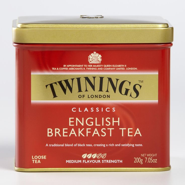 Twinings English Breakfast Loose Leaf Tea Tin features pure Assam and Kenyan tea leaves grown in India. The result is a rich and satisfying black tea with a robust malty character. After all, Twinings uses only the finest, hand-selected leaves cultivated by trusted growers around the world.