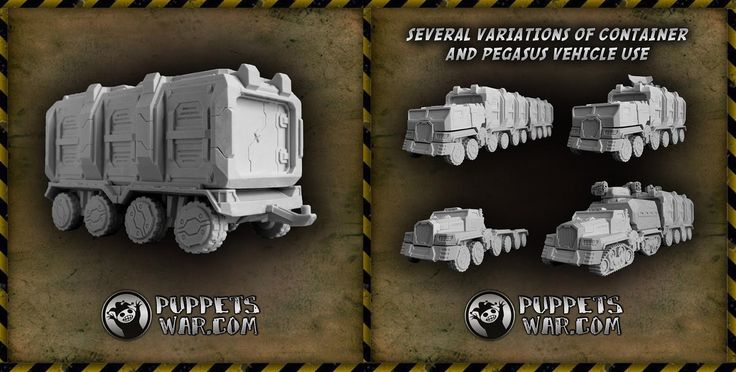 New release today: Container and tow. Tow is compatible with our Pegasus truck and its variants https://puppetswar.eu/product.php?id_product=674