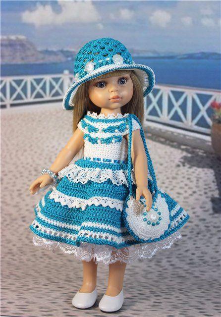 """Наряд для куклы 30 - 33 см. """"Бирюза"""" (модель обновлена) / Одежда для кукол / Шопик. Продать купить куклу / Бэйбики. Куклы фото. Одежда для кукол"""