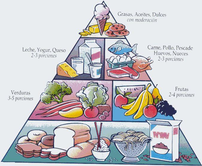La pirámide es la base de nuestra dieta ,en ella pueden verse representados los diferentes grupos de alimentos.