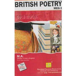 MEG1-British Poetry (IGNOU help book for MEG-1 in English Medium) (New Edition,2015)