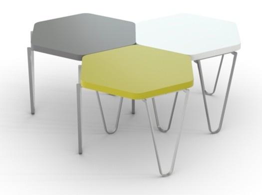 The colour, stackable, modular V1 Hexagonal Coffee Table ...
