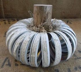 DIY Home Decor: Canning Lid Ring Pumpkin With a Text Twist