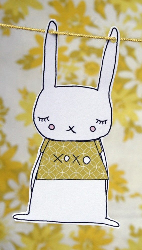rabbit paper garland