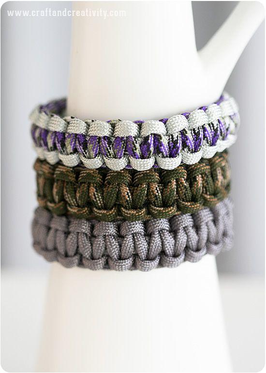 Armband av tjockt knytsnöre – Basic Paracord bracelets