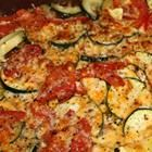 I am going to have to remake this so there are not 32g of fat!   Tomato Zucchini Casserole Recipe