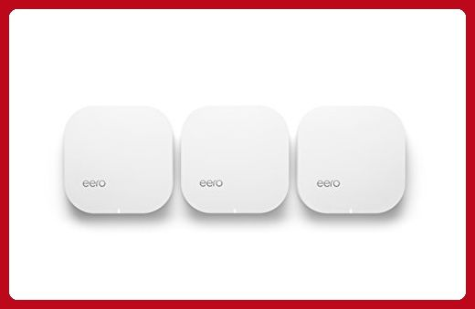 eero Home WiFi System (Pack of 3) - Blanket Your Home in WiFi, Replaces Wireless Router and Range Extender, Gigabit Speed, WPA2 Encryption - Best gadgets (*Amazon Partner-Link)