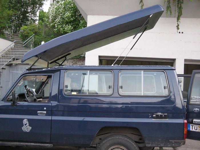 DIY Pop up camper roof overland vehicle.