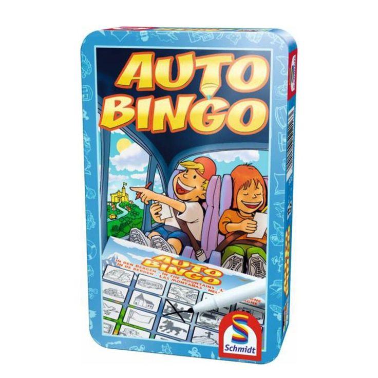 Wat duurt het toch lang zo'n reis in de auto of in de trein! Daar verveel je je al gauw. Maar met de Auto-Bingo gaat de tijd razendsnel voorbij. Want terwijl de spelers naar de passende motieven op de Bingo kaarten zoeken, hebben ze niet in de gaten hoe lang ze eigenlijk al onderweg zijn. Afmetingen:19 x 12 x 4,5 cm. - Auto Bingo