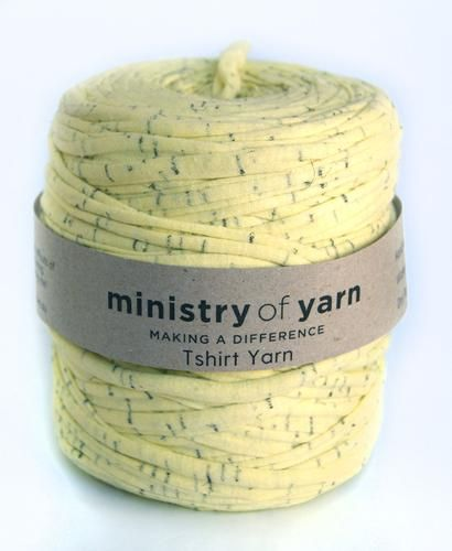 Flecked Yellow Oddball T-shirt Yarn by Ministry of Yarn