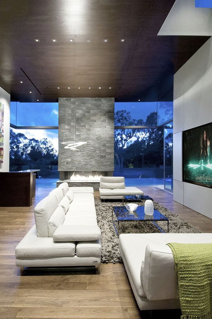 Cool fireplace and living room Summit House
