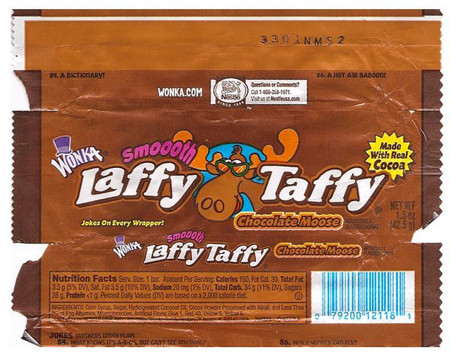 Wonka Chocolate Moose Laffy Taffy