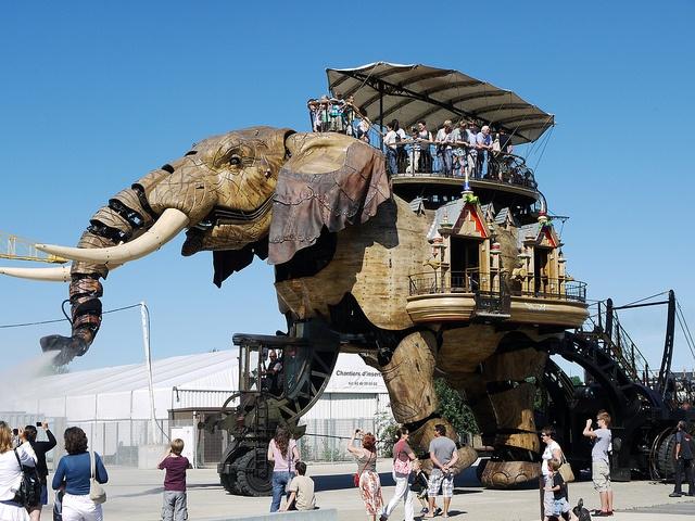 Mechanical Elephant Nantes La Machine by alancards, via Flickr