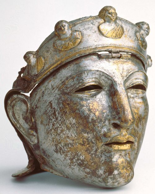 Historic Roman helmet worn by the elite Roman cavalry (equites Romani). 1st centu…