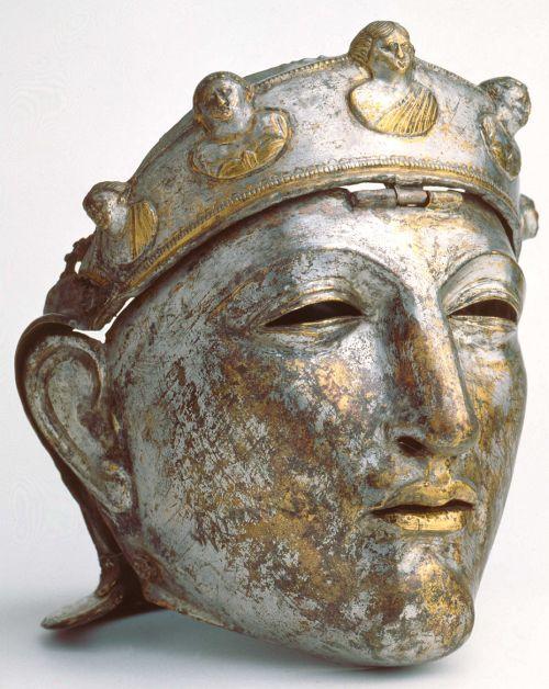 Historic Roman helmet worn by the elite Roman cavalry (equites Romani). 1st centu…
