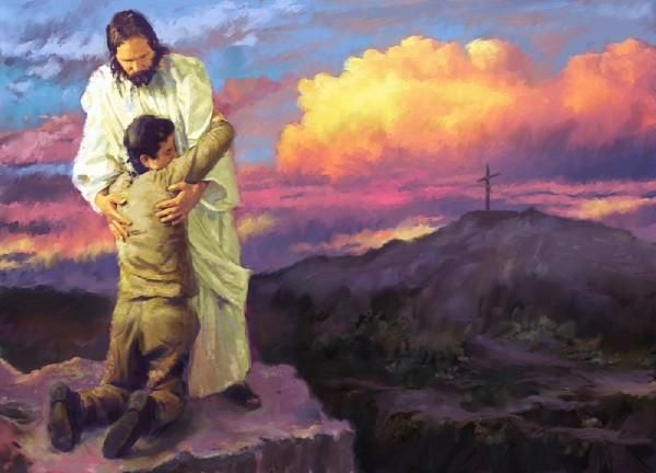 Christ carrying person - Google Search