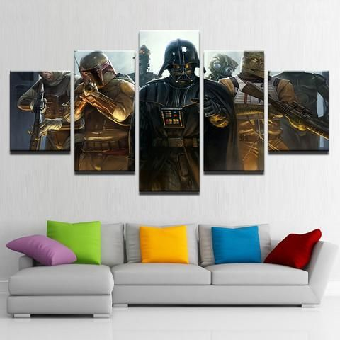 5 Pieces Star Wars Paintings Wall Art