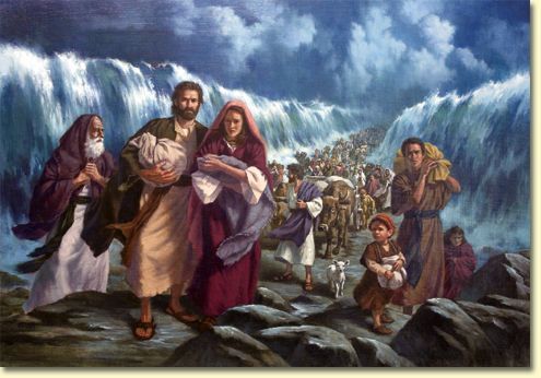 When Pharaoh's army tried to trap the Israelites at the Red Sea, God commanded His people to move forward. Description from christianitymalaysia.com. I searched for this on bing.com/images