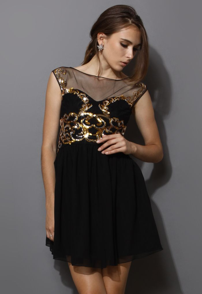 17 Best Images About Black And Gold Dress On Pinterest