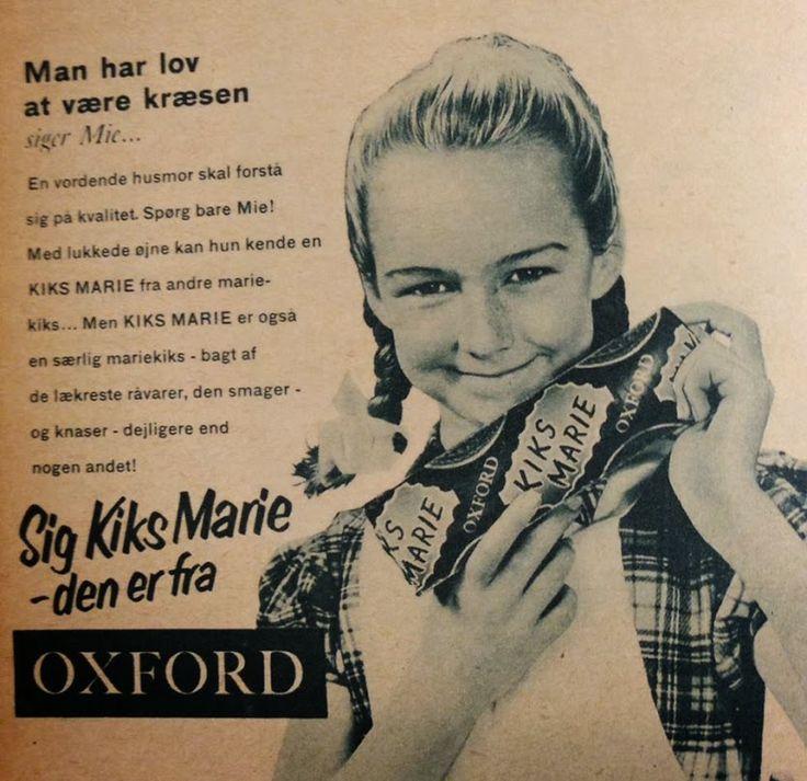 """""""Men kiks marie er også en særlig mariekiks - bagt af de lækreste råvarer, den smager - og knaser - dejligere end nogen andet!"""" #karenvolf #mariekiks #reklame #klassiker"""