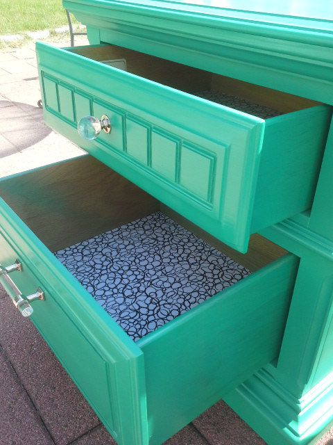 Set of 2 Lucky Green Nightstands by LillysHomeDesigns on Etsy
