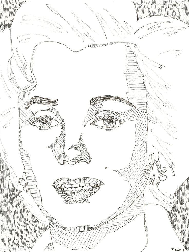 Marilyn Monroe in fineliner   Tali Kord