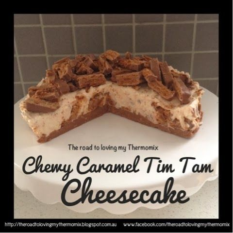 The road to loving my Thermomix: Chewy Caramel Tim Tam Cheesecake