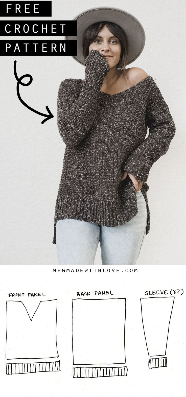 The Home Girl Sweater – Crochet Sweater Pattern **…