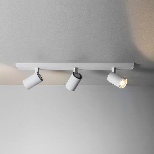 Moderner Ascoli Triple Bar Deckenstrahler in weiß